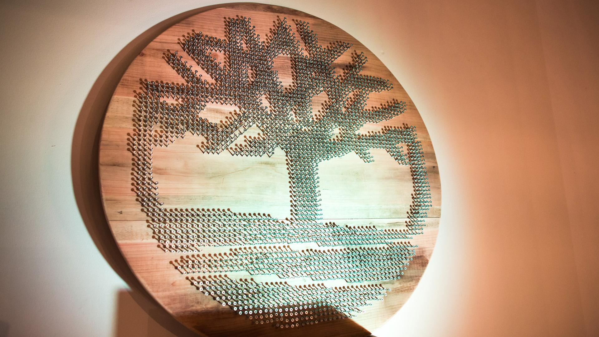 Timberland - schroeven logo bord